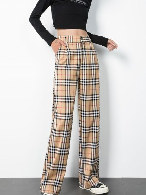 Hyunjin – Stray Kids Vintage Check Trousers (5)