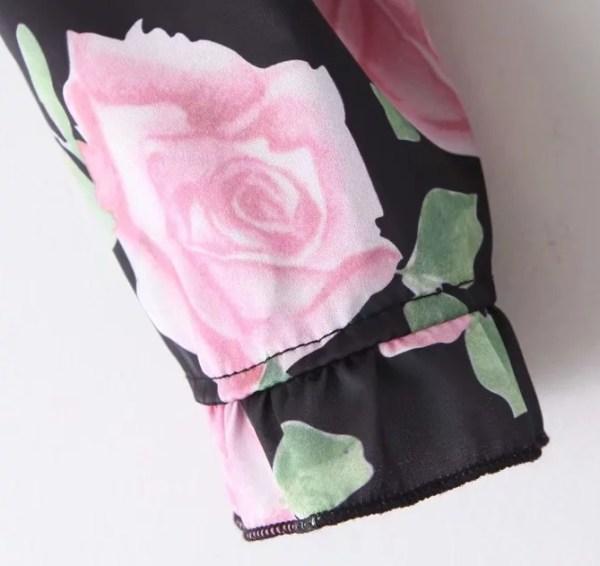 Black Floral Mini Dress   IU