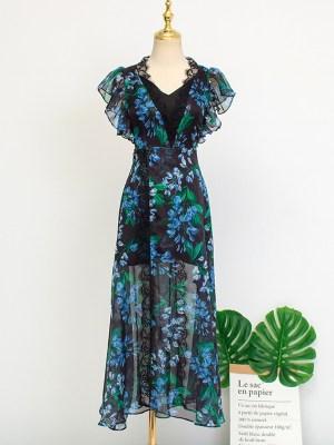 IU – Hotel Del Luna Long Floral Lace Dress (5)