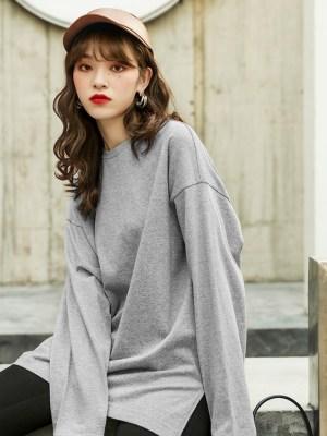 Irene – Red Velvet Grey Side Slit Shirt (7)