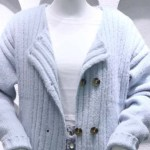 Baby Blue Double Breasted Knit Cardigan | Jennie – BlackPink