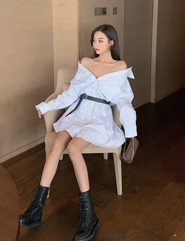 White Belted Mini Dress    Jennie – BlackPink
