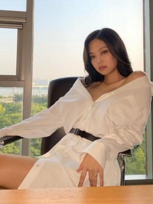 White Belted Mini Dress | Jennie – BlackPink