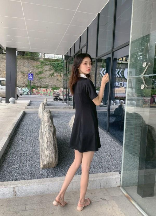 Black And White Tennis Shirt Dress | Joy – Red Velvet