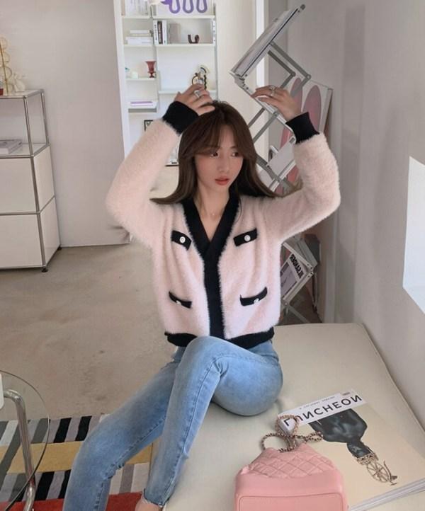 Pink Velvet Cropped Cardigan | Joy – Red Velvet