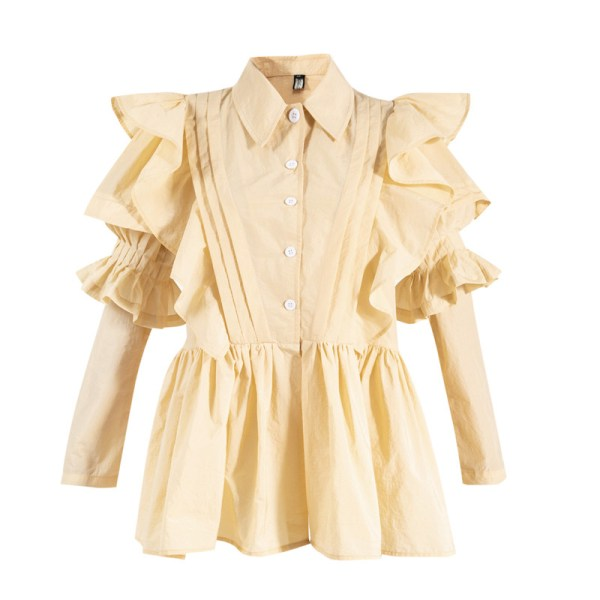 Off-White Ruffled Shirt Dress | Ko Moon‑Young – It's Okay Not To Be Okay