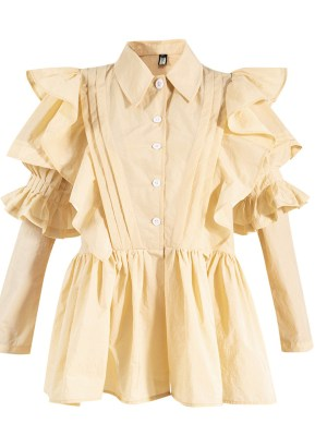 Ko Moon‑Young – It's Okay Not To Be Okay Off-White Ruffled Shirt Dress (17)