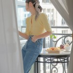 Yellow Knitted Top  | Lisa – BlackPink