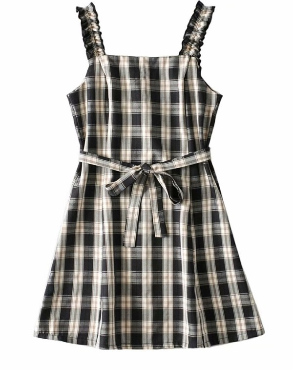 Plaid Sling Dress | Miyeon – (G)I-DLE
