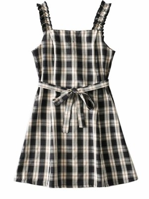 Miyeon – (G)I-DLE Plaid Sling Dress (5) – Copy