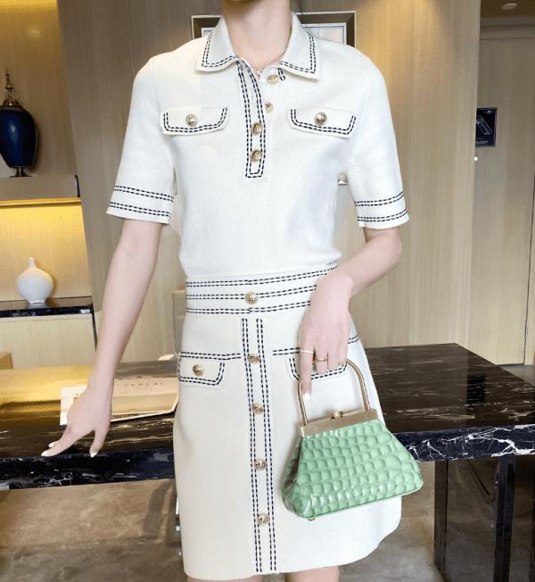 White Polo Shirt | Nayeon – Twice