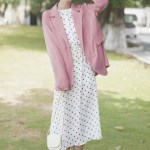Pink Loose Suit Jacket