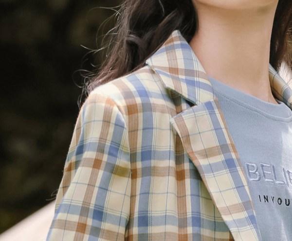 Plaid British Autumn Style Jacket