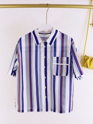 Sehun-EXO Classic Striped Button-Down Shirt (11)