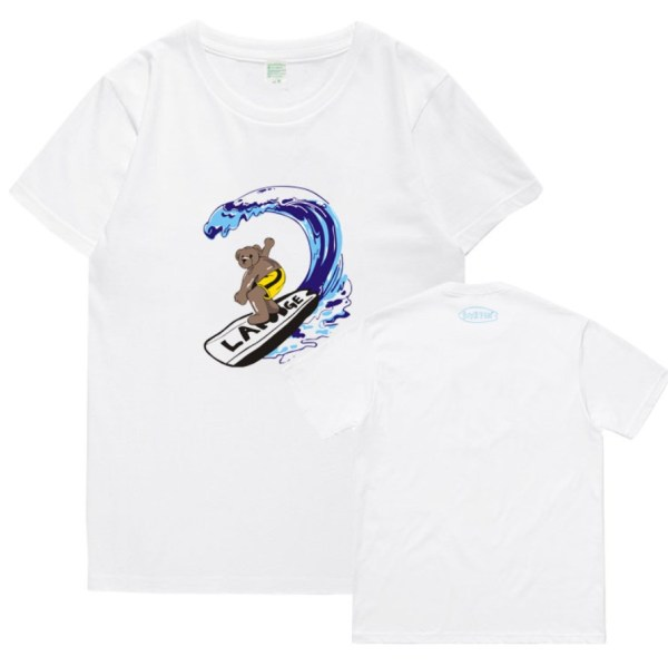 Surfing Bear Print T-Shirt   Seungmin – Stray Kids