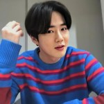 Multicolored Stripe Sweater | Suho -EXO
