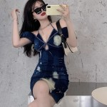 Tie-Dye Denim Dress | Yuqi – (G)I-DLE