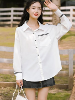 Black Outlined And Black Buttoned Shirt (10)