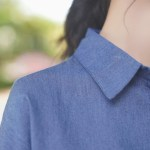 Denim Blue And White Sided Shirt