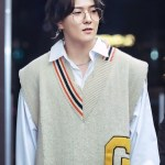 Oversized Knitted Sweater Vest | Donghyuk – iKON