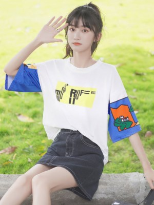 Graphic Designed Sleeves T-Shirt (3)