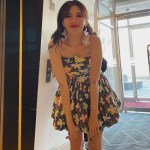 Floral Printed Tube Dress | Hyuna