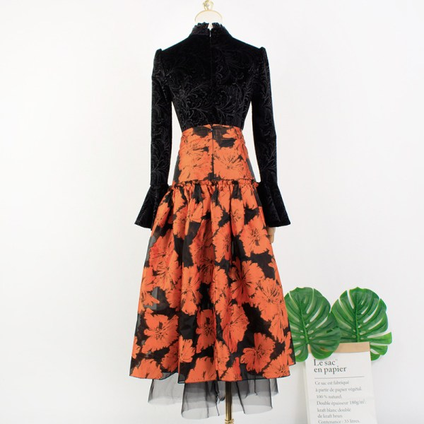 Floral Jacquard Skirt | IU – Hotel Del Luna