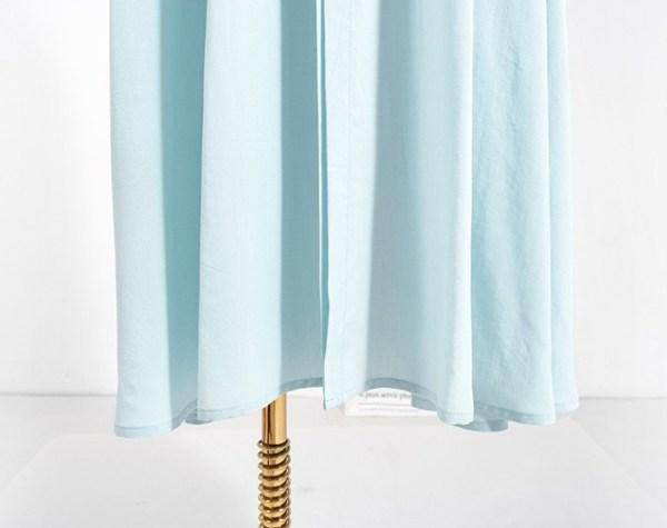 Blue Flared Long Dress | Jennie – BlackPink