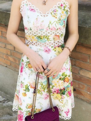 Jisoo – BlackPink Floral Printed Sun Dress (7)