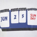 June 25th Calendar Print T-Shirt