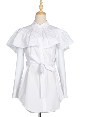 Ko Moon‑Young – It's Okay Not To Be Okay White Ruffled Shirt Dress (5)