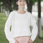 Layered Ruffles White Sweater	Layered Ruffles White Sweater