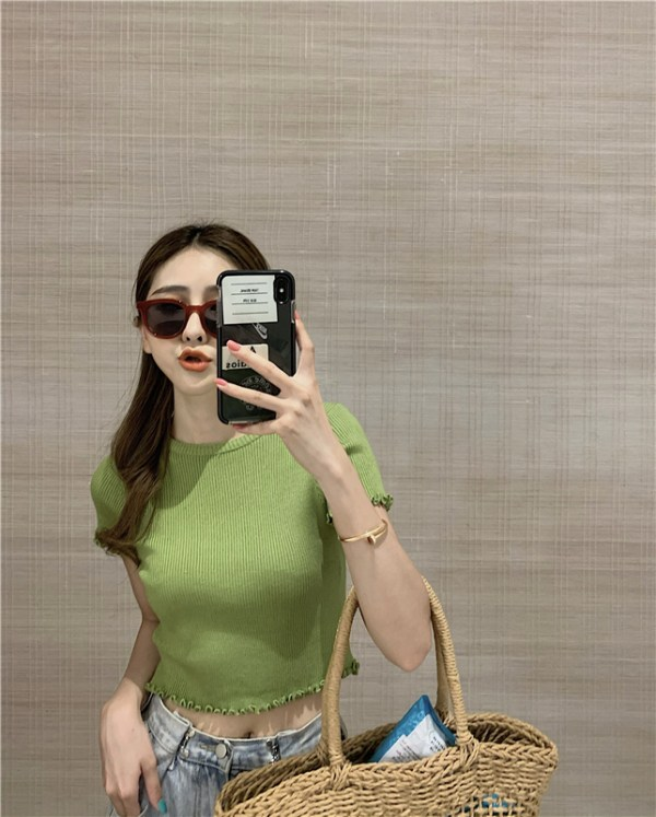 Green Lettuce-Edge Top | Seulgi – Red Velvet
