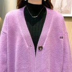 Purple Knitted Cardigan With Pockets | Shim Cheong – The Legend Of The Blue Sea