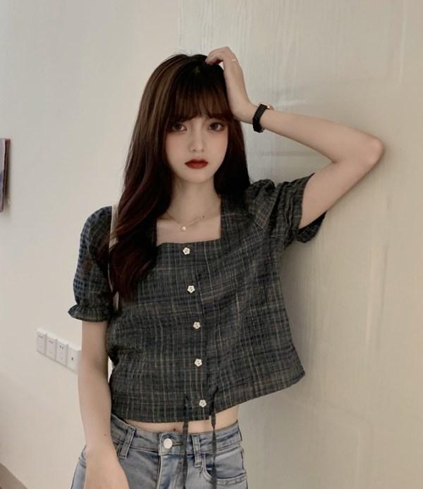 Grey Cropped Blouse| Soyeon – (G)I-DLE