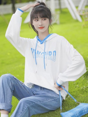 White And Light Blue Mix Hoodie (5)
