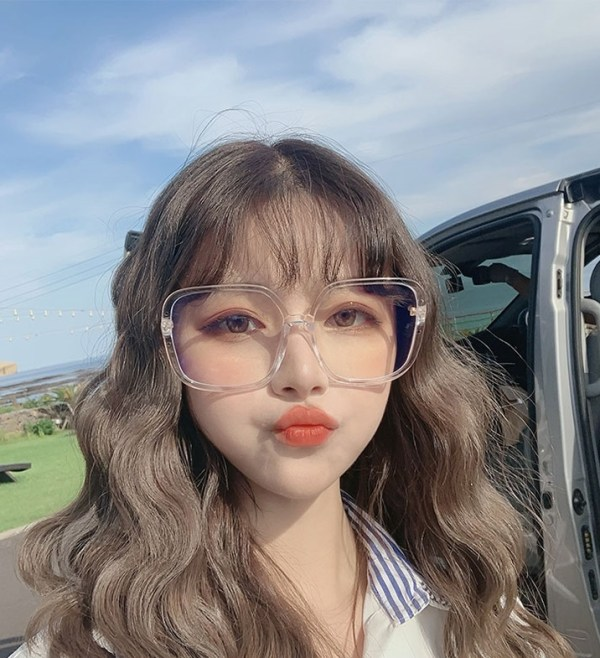 Transparent Big Framed Glasses | Chaeyoung – Twice