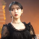 Black Mesh Dress With Flower Embroidery | IU – Hotel Del Luna