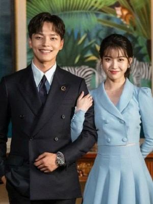 Blue Cropped Suit Jacket   IU – Hotel Del Luna