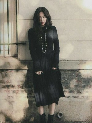 Black Knitted Dress | Jennie – BlackPink