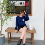 Mountain Fox Patch Blue Sweater | Jennie – BlackPink