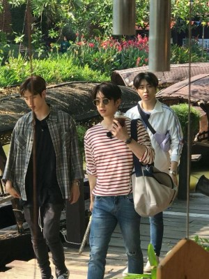 Striped Long Sleeve T-Shirt   Jinyoung – GOT7