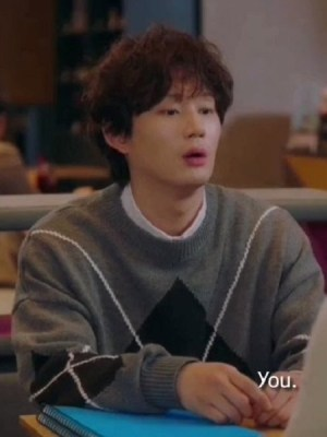 Grey Sweater With Diamond-Shaped Pattern | Kim Jin-Woo – Record Of Youth