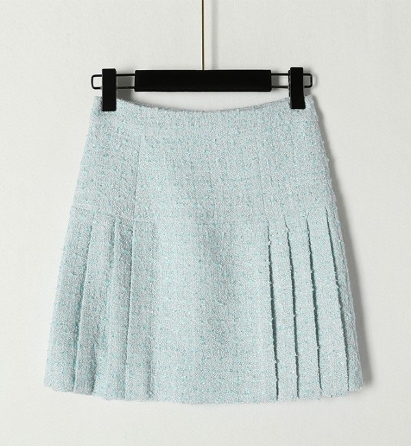 Blue Pleated Tweed Skirt | Ko Moon‑Young – It's Okay Not To Be Okay