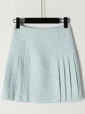 Ko Moon‑Young – It's Okay Not To Be Okay Blue Pleated Tweed Skirt (1)