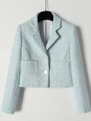 Ko Moon‑Young – It's Okay Not To Be Okay Blue Tweed Short Jacket (2)