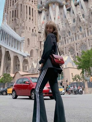Black Flared Track Pants | Lisa – BlackPink