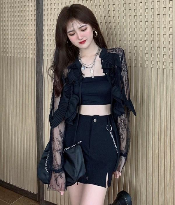 Black Frilled Lace Top   Lisa – BlackPink
