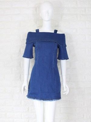 Nayeon – Twice Denim Off-Shoulder Sling Dress (11)