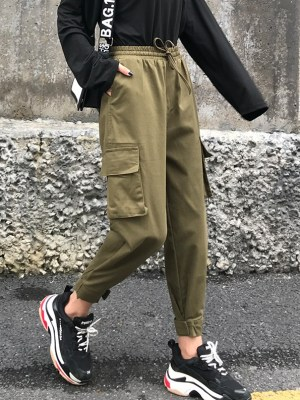 Park Seo Roi – Itaewon Class Olive Green Cargo Pants (6)